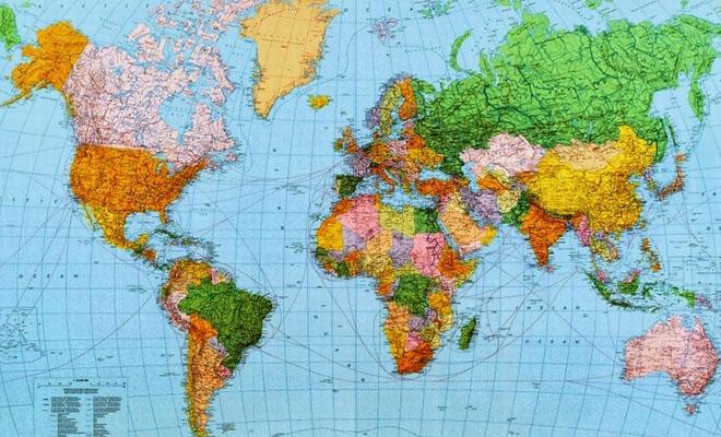 Maailman kartta jossa asuu paljon Suomalaisia