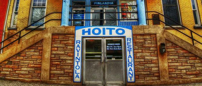 Kuvassa näkyy kanadansuomalaisten perustama ravintola The Hoito